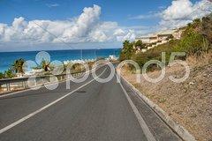 Saint Maarten Coast, Dutch Antilles Stock Photos