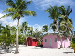 Small and Coloured Homes on the Coast of Santo Domingo Stock Photos