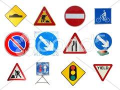 Range of traffic signs Stock Photos