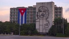 Establishing shot of government building in Havana, Cuba. Stock Footage