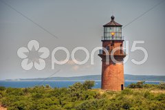 Aquinnah Beach Lighthouse, MA, August 2008 Stock Photos