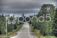 Road in Quebec, 2008 Stock Photos