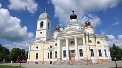 Assumption Cathedral in the Myshkin city in Russia Stock Footage