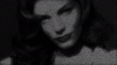Actress Lauren Bacall Portrait Stock Footage