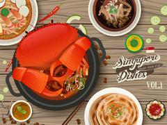 Singapore traditional delicacies Piirros