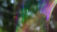 Big bubble shimmering colors of the rainbow Stock Footage