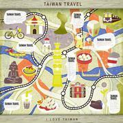 Taiwan travel board game Stock Illustration