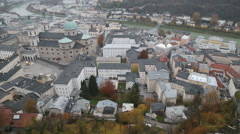 Salzburg, Austria / View from the fortress Stock Footage