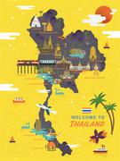 Thailand travel concept poster Stock Illustration