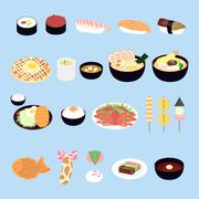 Attractive Japan delicacy Stock Illustration