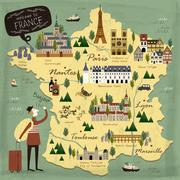 France travel concept map Piirros