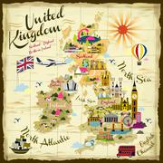 United Kingdom travel concept Stock Illustration