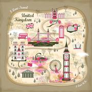 United Kingdom travel concept illustration Stock Illustration