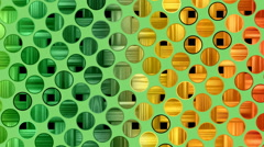 Retro radial background, green tint. Seamless loop. Stock Footage