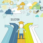 Selection concept Stock Illustration