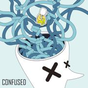 Confused concept Stock Illustration