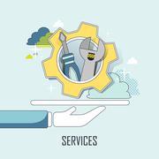 Customer service concept Stock Illustration