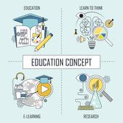 Education concept Stock Illustration