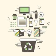 Recycle concept Stock Illustration