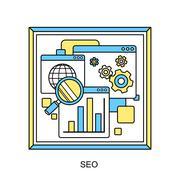 Searching engine optimization process Stock Illustration
