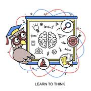 Learn to think concept Stock Illustration