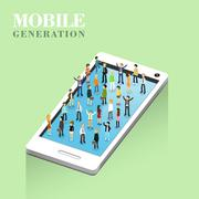 Mobile generation concept Stock Illustration