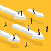 Heading for success concept Stock Illustration