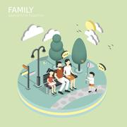 Family spend time together concept Stock Illustration