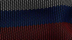 Russian flag is waving in the wind, consisting of choice's symbols. Stock Footage