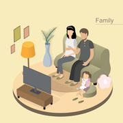 Family concept Stock Illustration