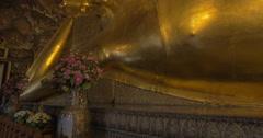 Wat Pho reclining Buddha, Thailand Stock Footage