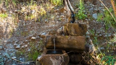 Small stream in Goynuk canyon, in the start of Likya path Stock Footage
