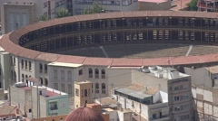 Bull Fighting Ring In Spain Stock Footage