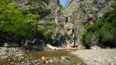 Sunny morning in a Goynuk canyon. Stock Footage