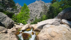 Sunny morning in a Goynuk canyon Stock Footage