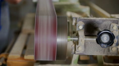 Belt sander machine is turned on Stock Footage