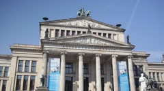 Konzerthaus on Gendarmenmarkt Stock Footage