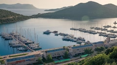 View from the bird's eye of the Kas city Stock Footage