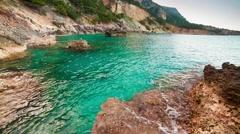 Picturesque Mediterranean seascape in Turkey. Stock Footage