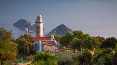 Lighthouse on Gelidonya peninsula in April. Stock Footage