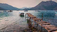 Picturesque Mediterranean seascape in Turkey. Stock Footage