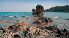 Picturesque Mediterranean seascape in Turkey Stock Footage