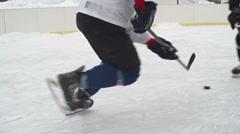 Ice Hockey Player Scoring Goal Stock Footage