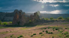 Spring rain in Cappadocia. Stock Footage