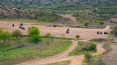 ATV riding in Red Rose valley in Cappadocia Stock Footage