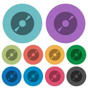 Color DVD disc flat icons Stock Illustration