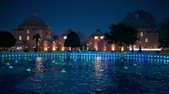 Night scene in Sultan Ahmet park. Stock Footage