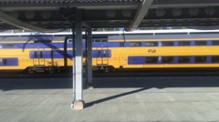 Driving away from Zwolle central trainstation Stock Footage