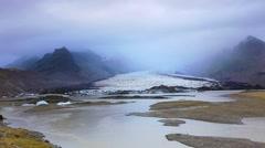 Melting ice from Vatnajokull glacier Stock Footage