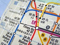 New York subway map Kuvituskuvat